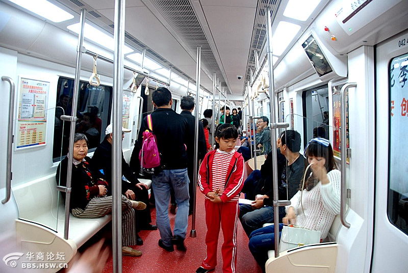 雨天去试乘体验西安地铁二号线