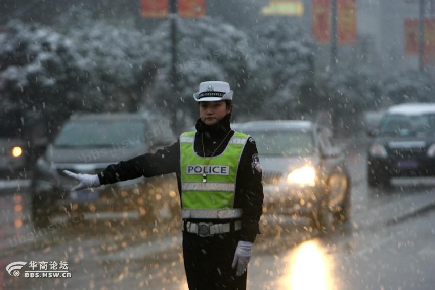 西安最美女交警 全民乱拍