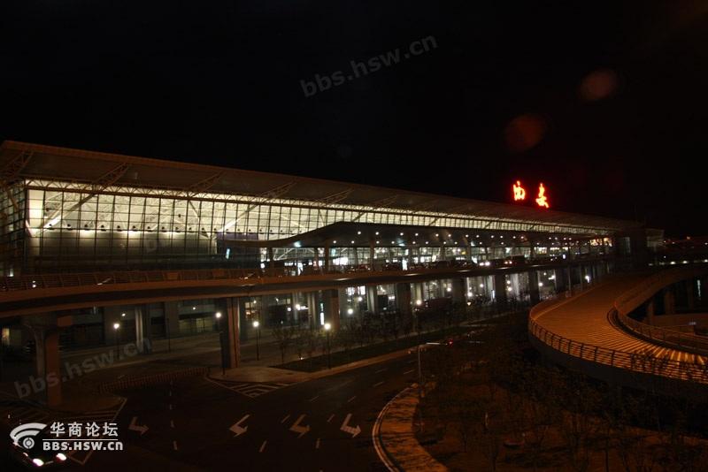 夜色下的咸阳机场T3航站楼