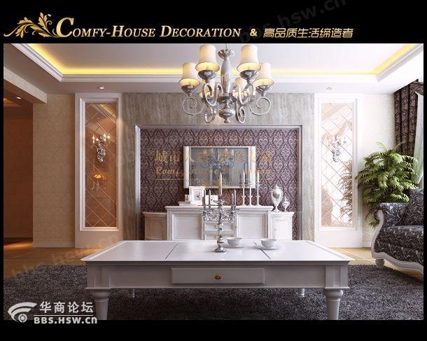 曲江观邸欧式140平米装修样板间效果展示