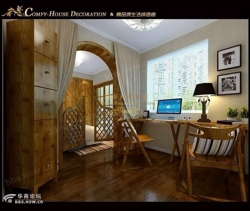 设计师作品推荐 64平小户型,现代简约 田园室内设计 装修论高清图片