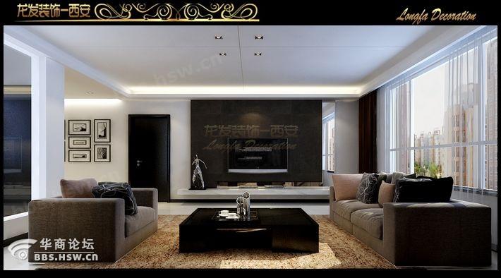 简约装修效果图 黑白灰经典搭配的范 4万装修96平简约温馨居