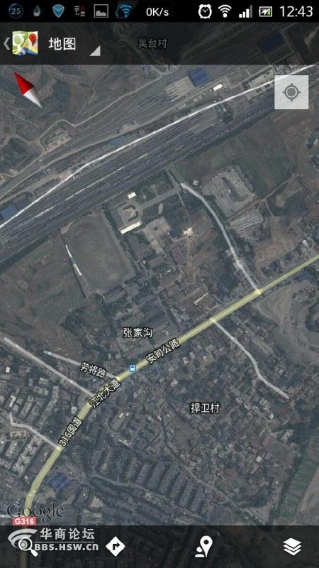用谷歌地图看安康城市