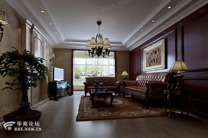 室内装修风格 曲江诸子阶188平米美式风格装修案例