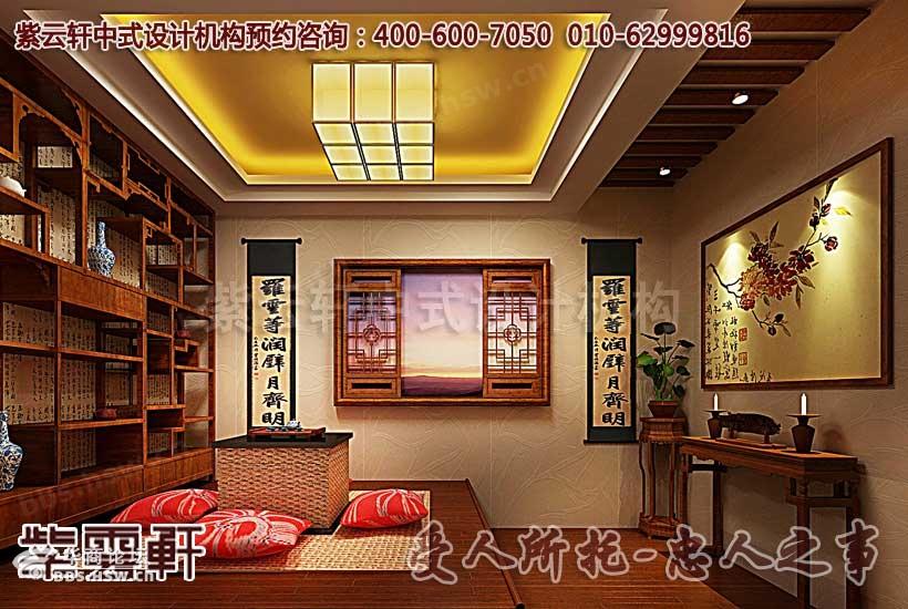 描述:古典茶楼包间中式设计装修效果图