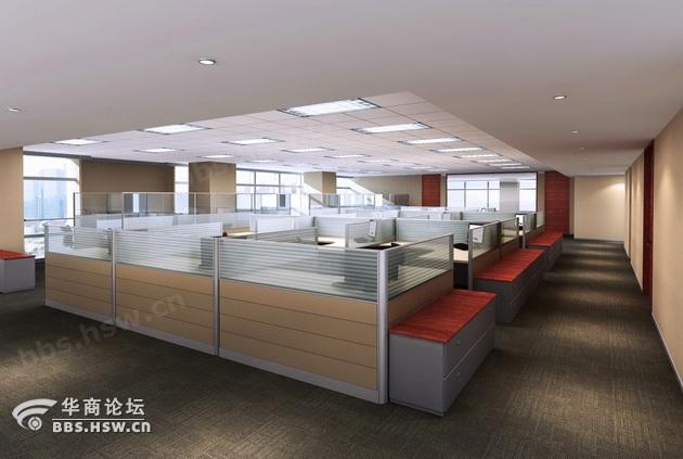 西安办公室装修现场施工规范高清图片