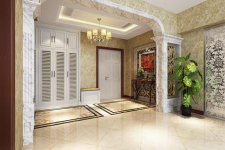 门厅效果图   设计师:您这个房子从空间来讲比较大一些,但