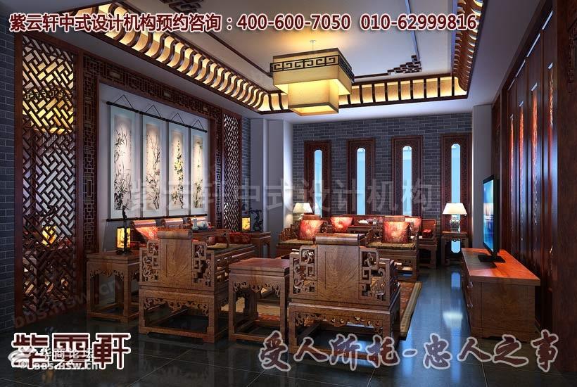 样板间--红木家具展厅设计装修还表现在其传承中式传统的装