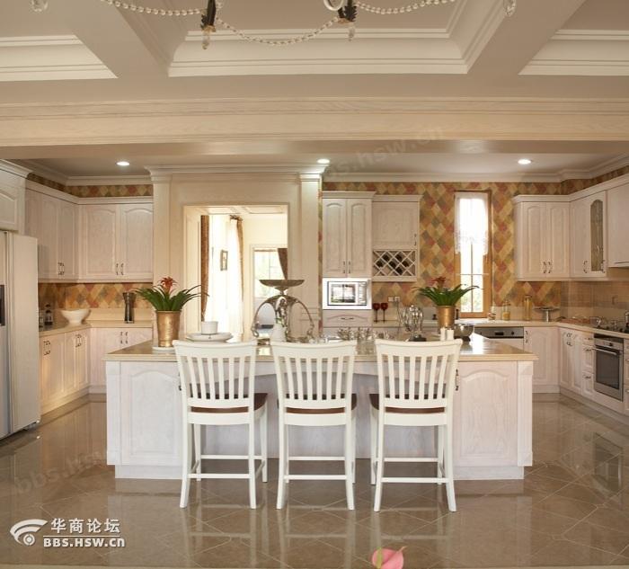 欧美风格别墅厨房装修效果图