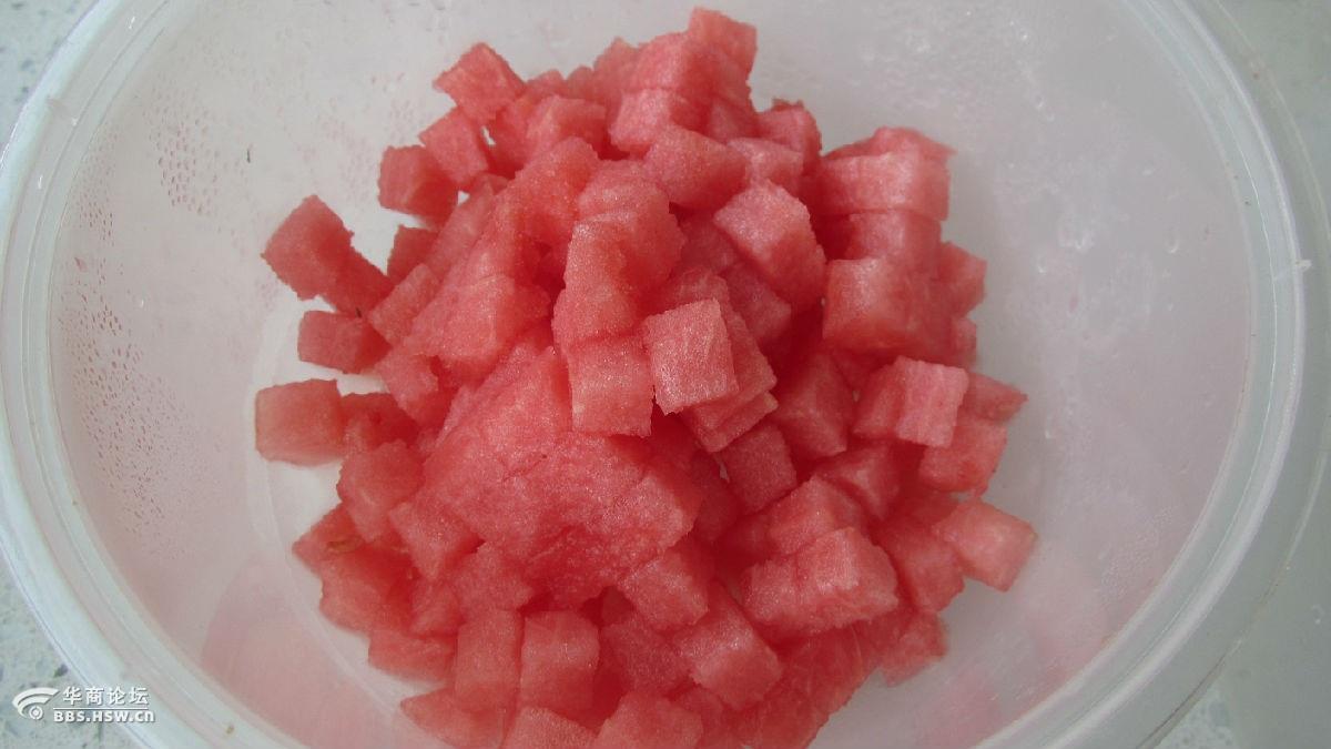 酸奶西瓜冰棍