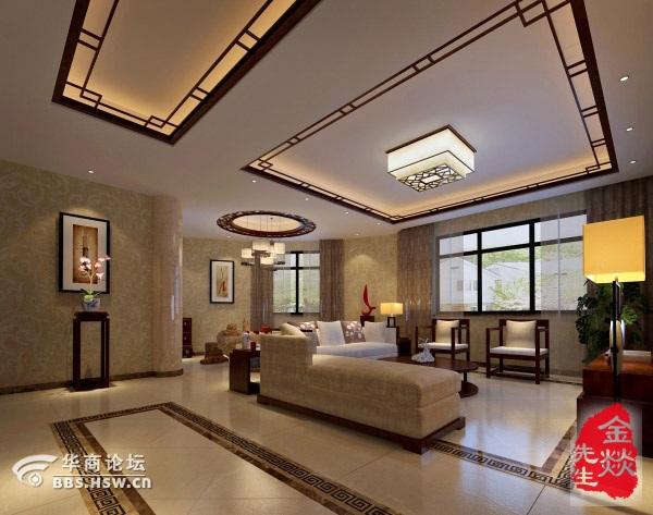 悦美国际中式风格200平装修效果图