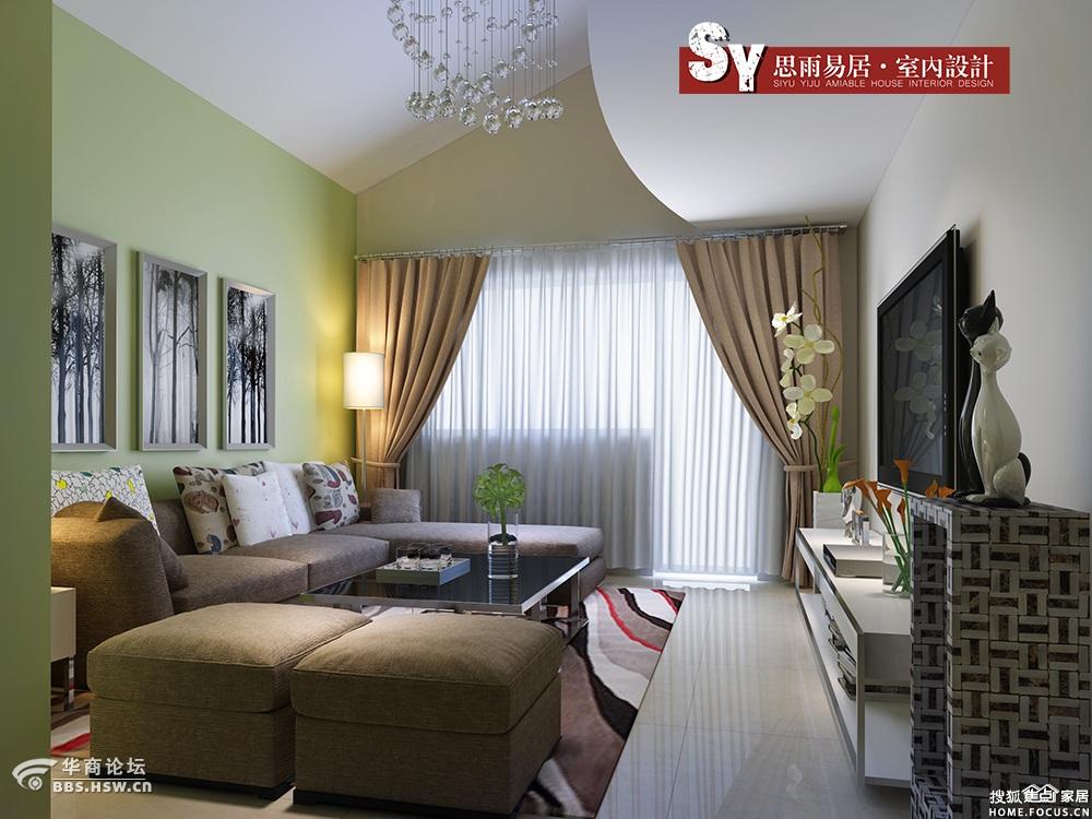 金色漫香苑110平米新房装修设计案例