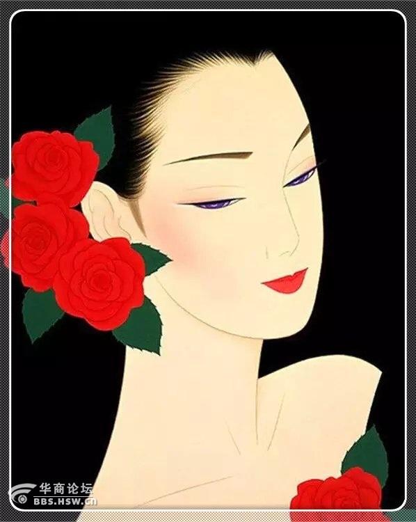 女人抽象美