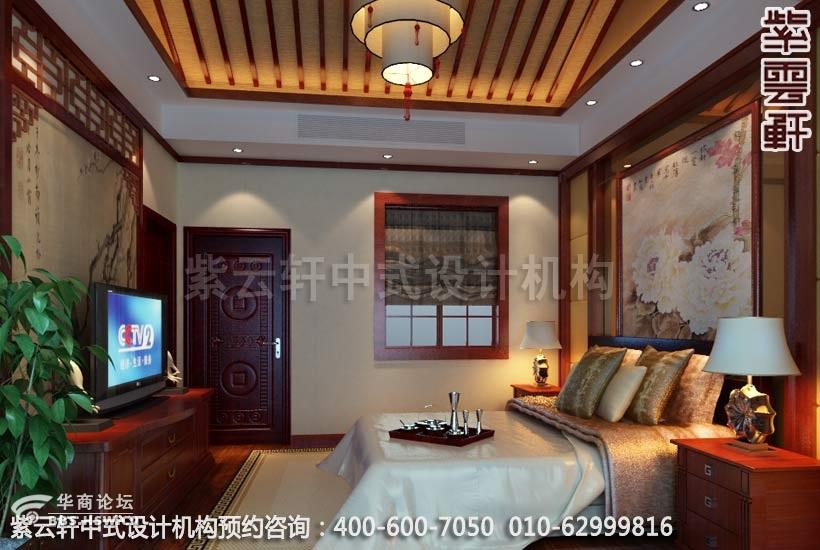 现代中式装修 别墅装修效果图 紫云轩中式设计