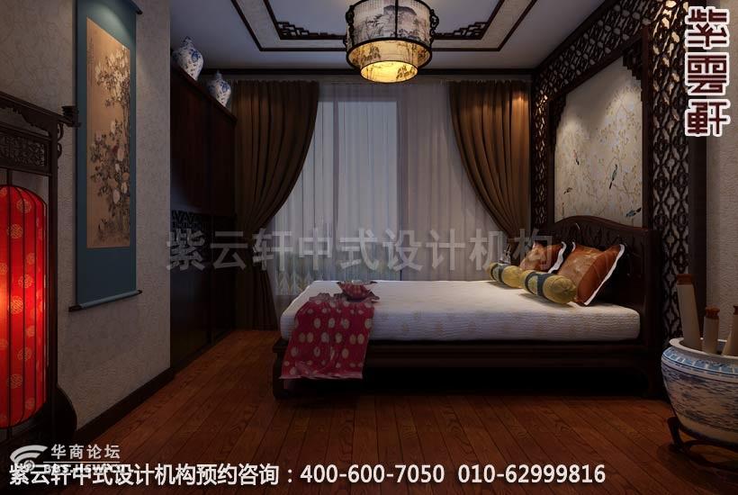 中式家装丰台平层装修效果图 古典居家装修,紫云轩中式设计