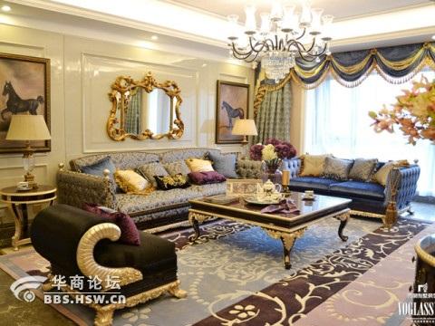 宫廷风格的别墅装修案例.欧式宫廷主要体现在空间感、豪华、