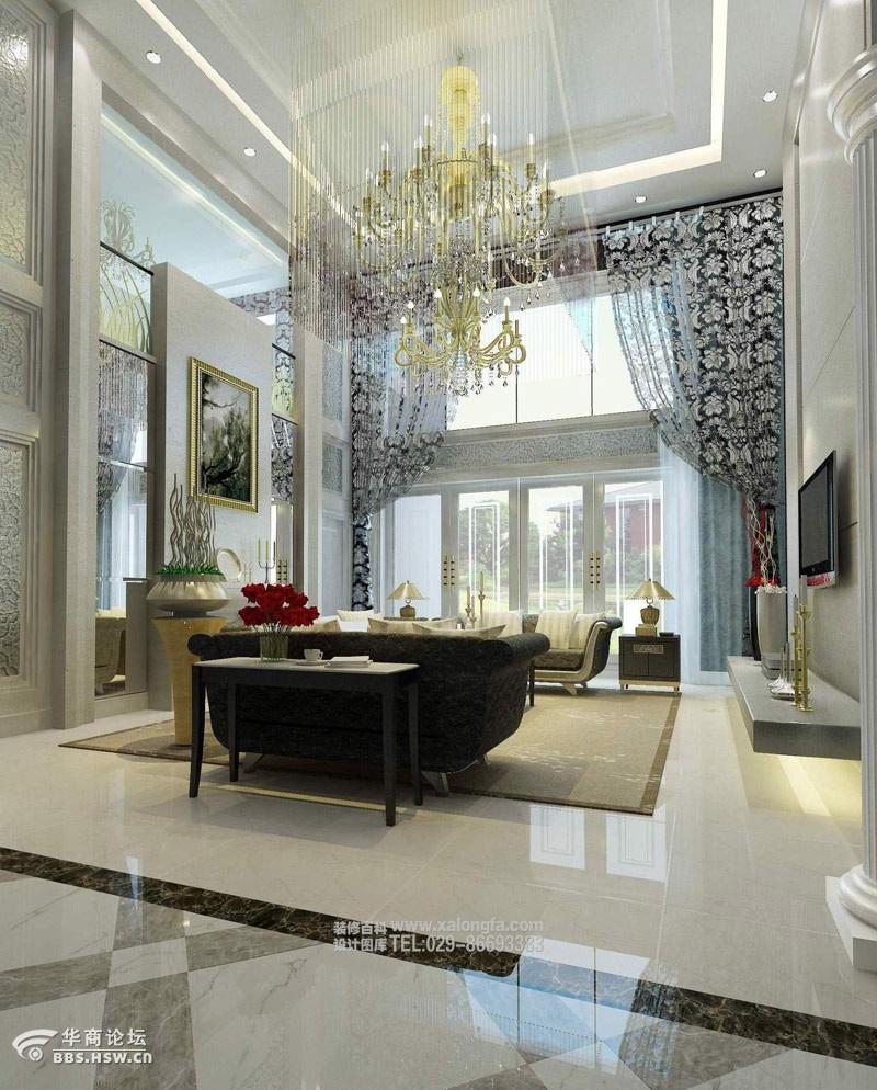 西安龙发装饰现代简约风格别墅设计案例