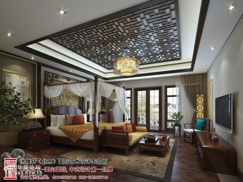 典雅高贵的北京现代中式样板间设计 高清图片