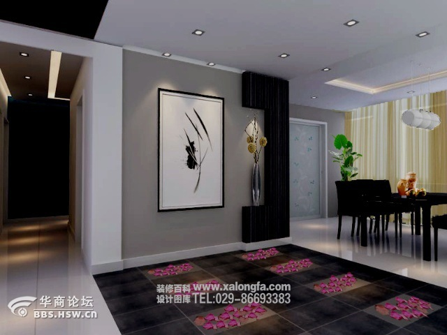 西安龙发装饰曲江观邸160平米简约风格设计装修案例