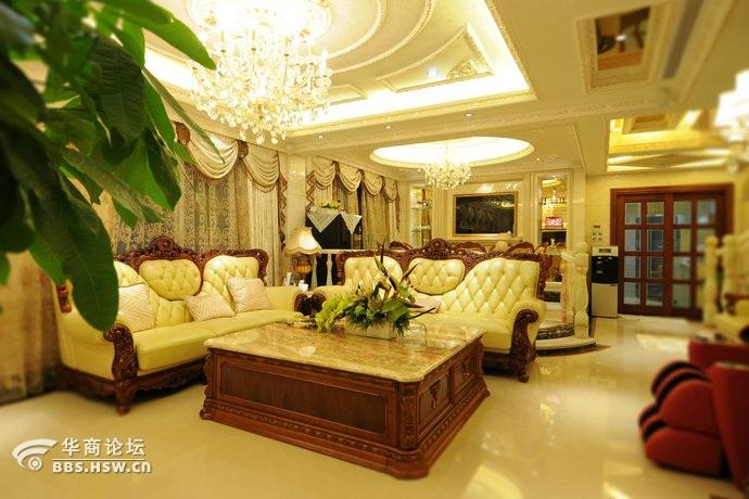 280平欧式风格别墅客厅装修