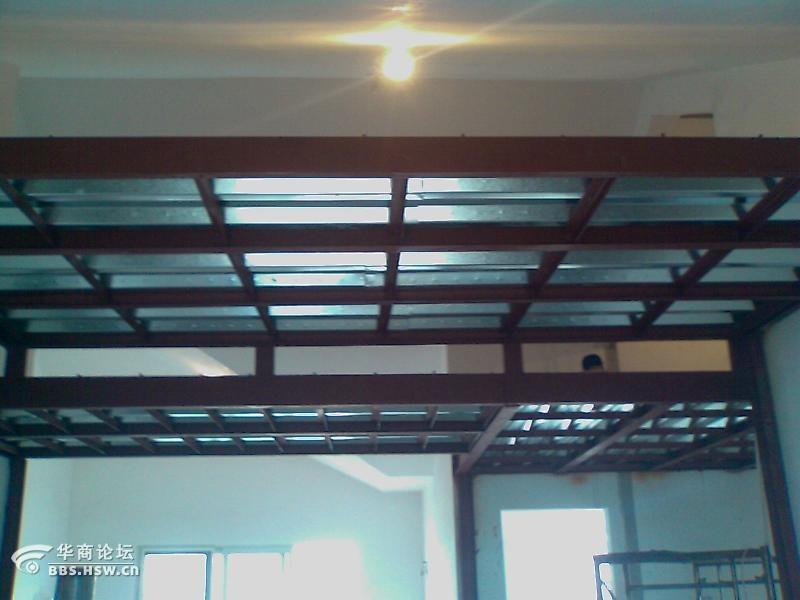 顶各种挑空夹层阁楼)钢结构加层、钢结构厂房住宅钢结构加层,高清图片