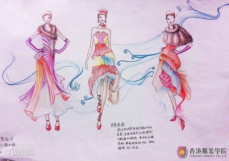 创意来点缀它吧!这些服装设计手稿作品代表着香港服装学院莘