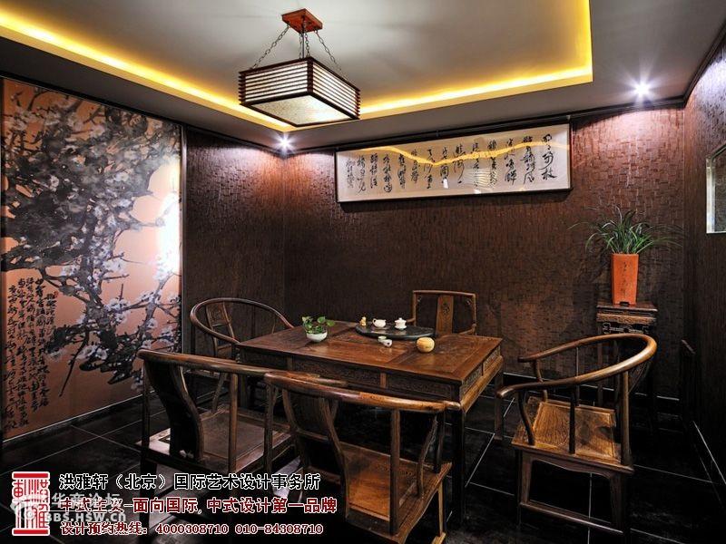 现代新中式茶馆图片-包间装修效果图-中式茶楼装修效果图,品位静谧高清图片