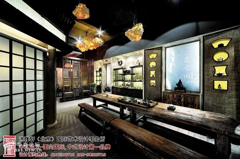 古典中式茶楼-大厅2装修效果图-典型的茶楼中式装修设计,宁静惬意与