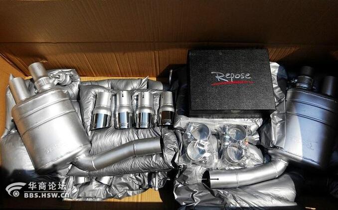 奔驰glk300改装repose阀门排气 高清图片