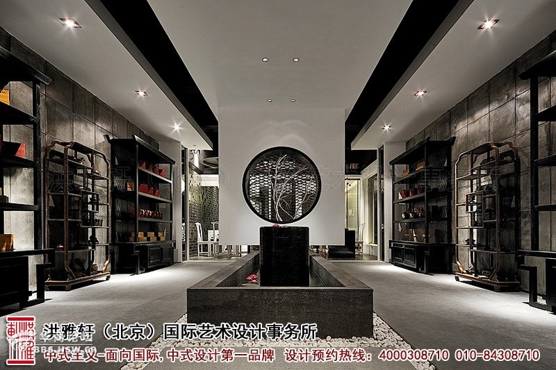 大厅展区2装修效果图-新中式茶楼装修设计,体现沁静优雅的人生乐趣