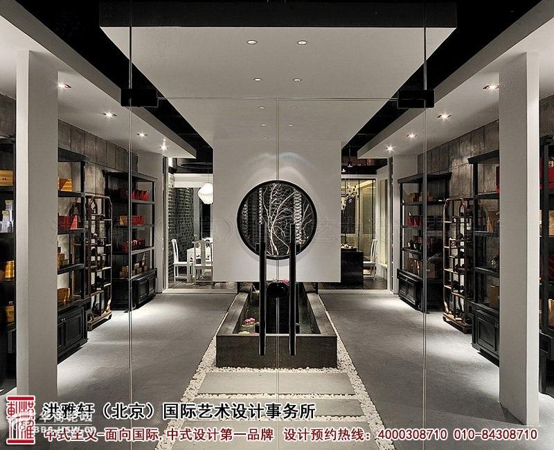 -大厅展区装修效果图-新中式茶楼装修设计,体现沁静优雅的人生乐趣