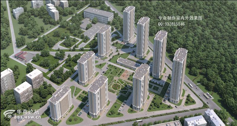 西安城市规划效果图设计 建筑规划效果图制作 新农村规划