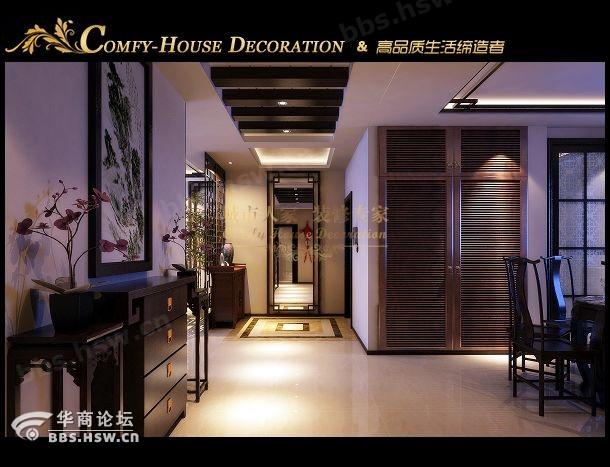 西安城市人家,首创国际160平米新中式装修效果图展示高清图片