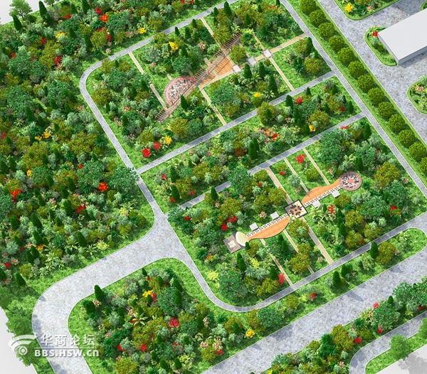 西安效果图制作 园林景观效果图 绿化效果图制作