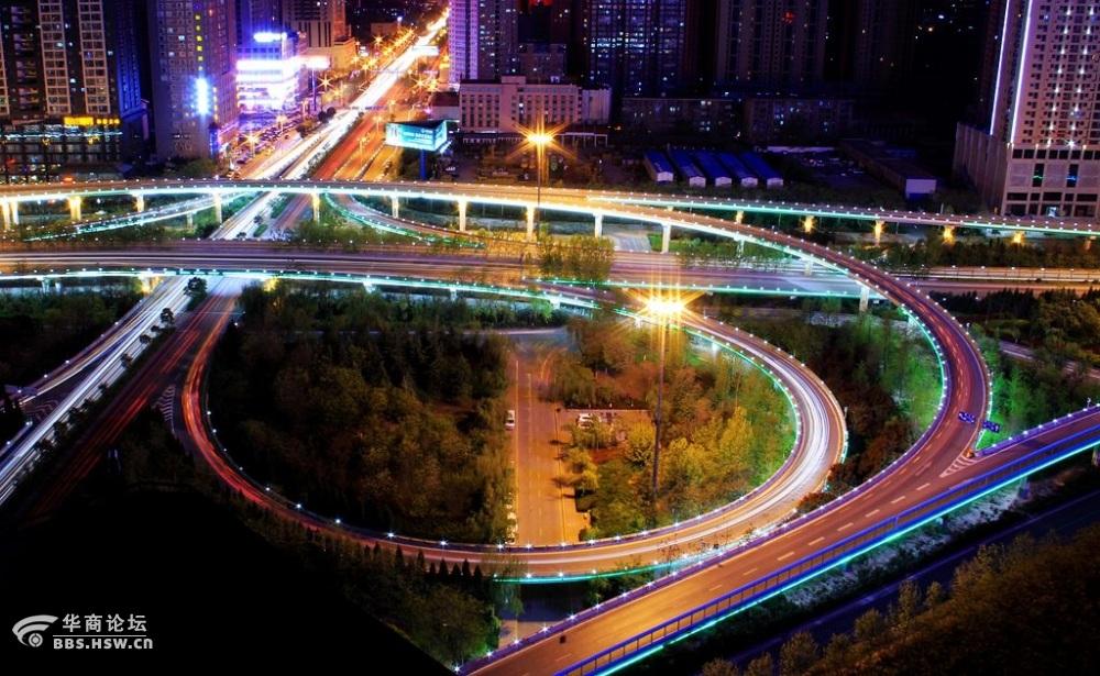 西安最漂亮的立交桥夜景图片