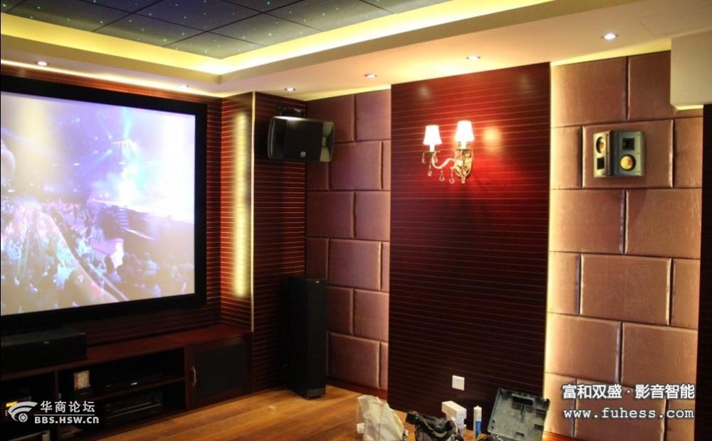 红螺湖别墅私人家庭影院及KTV练歌房设计装修项目